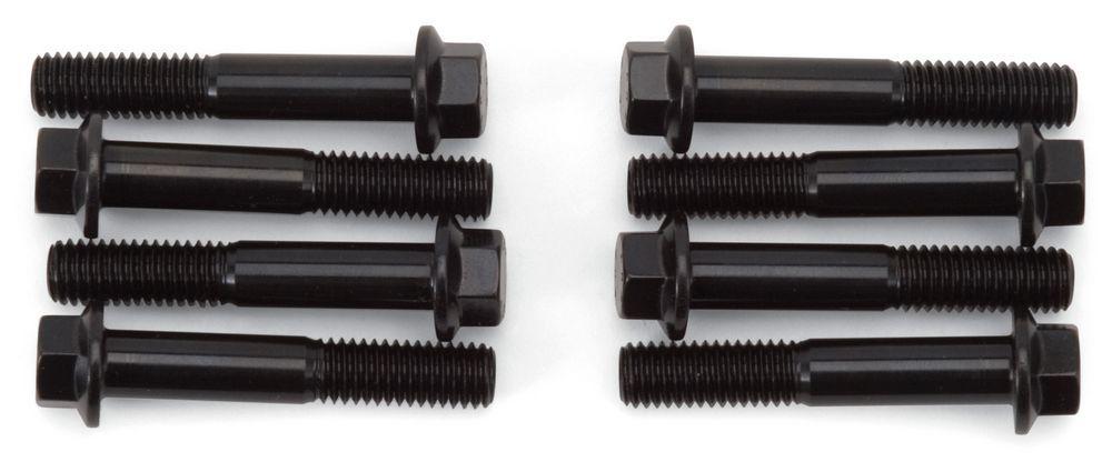 Edelbrock 8597 Rocker Arm Bolt, 8 mm x 1.25 Thread, 1.770 in Long, Steel, Black Oxide, Edelbrock Heads, GM LS-Series, Each
