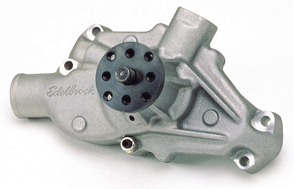 Edelbrock 8810 Water Pump, Mechanical, Victor Series, 5/8 in Pilot, Short Design, Aluminum, Natural, Small Block Chevy, Each