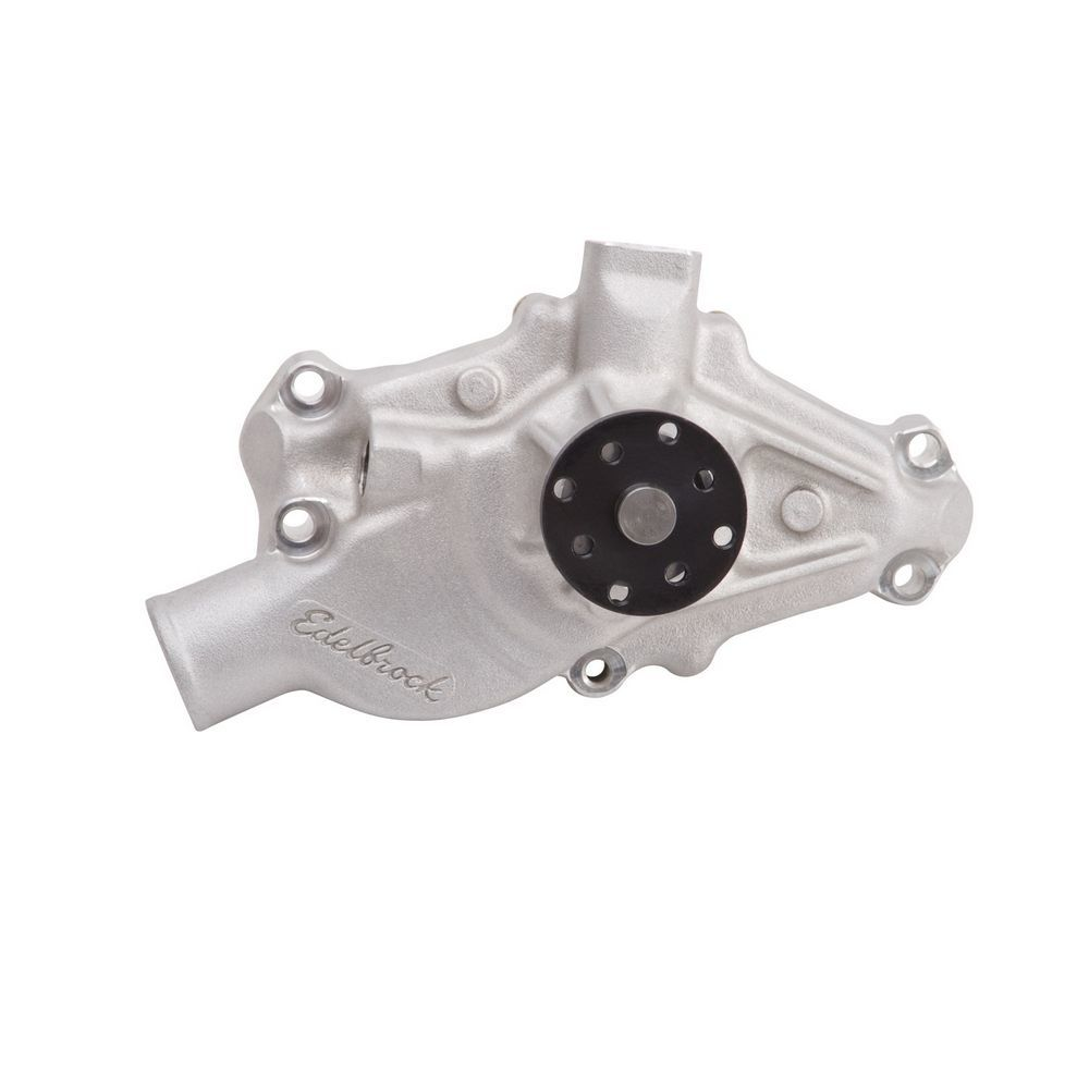 Edelbrock 8812 Water Pump, Mechanical, Victor Series, 3/4 in Pilot, Short Design, Aluminum, Natural, Small Block Chevy, Each