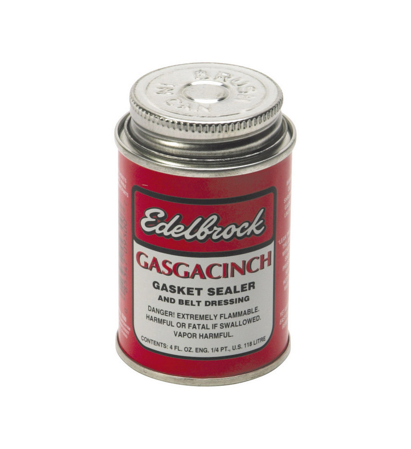 Edelbrock 9300 Gasket Sealer, Gasgacinch, Can, 4 oz, Each