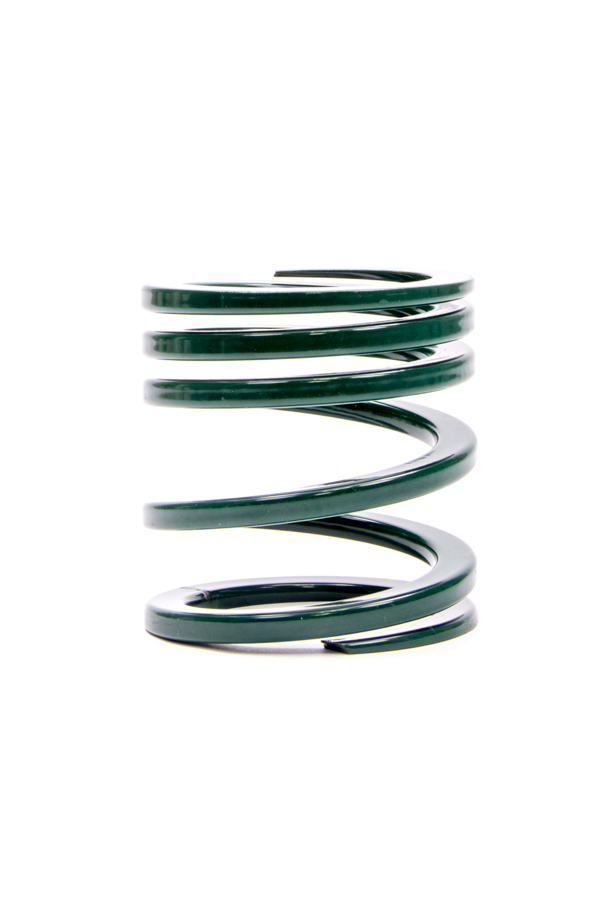 Eibach 0200-250-250-550 Coil Spring, Tender, 2.500 in ID, 3.460 in Length, 250-550 lb/in Spring Rate, Green Powder Coat, Each