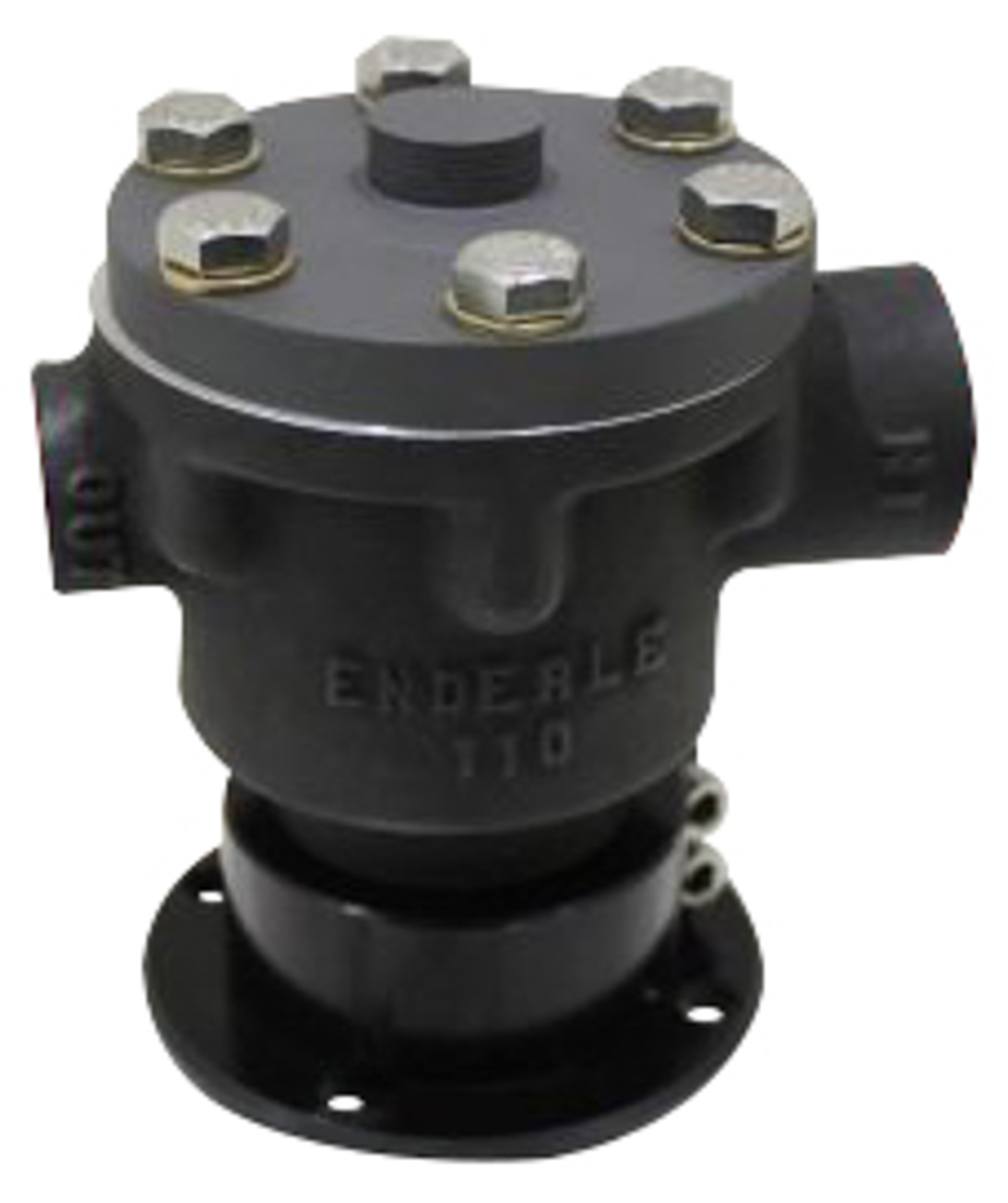 Enderle 3006 Fuel Pump, 1100, Hex Driven, 17.2 gph, In-Line, 12 AN Female Inlet, 8 AN Female Outlet, Aluminum, Black Paint, Methanol, Each