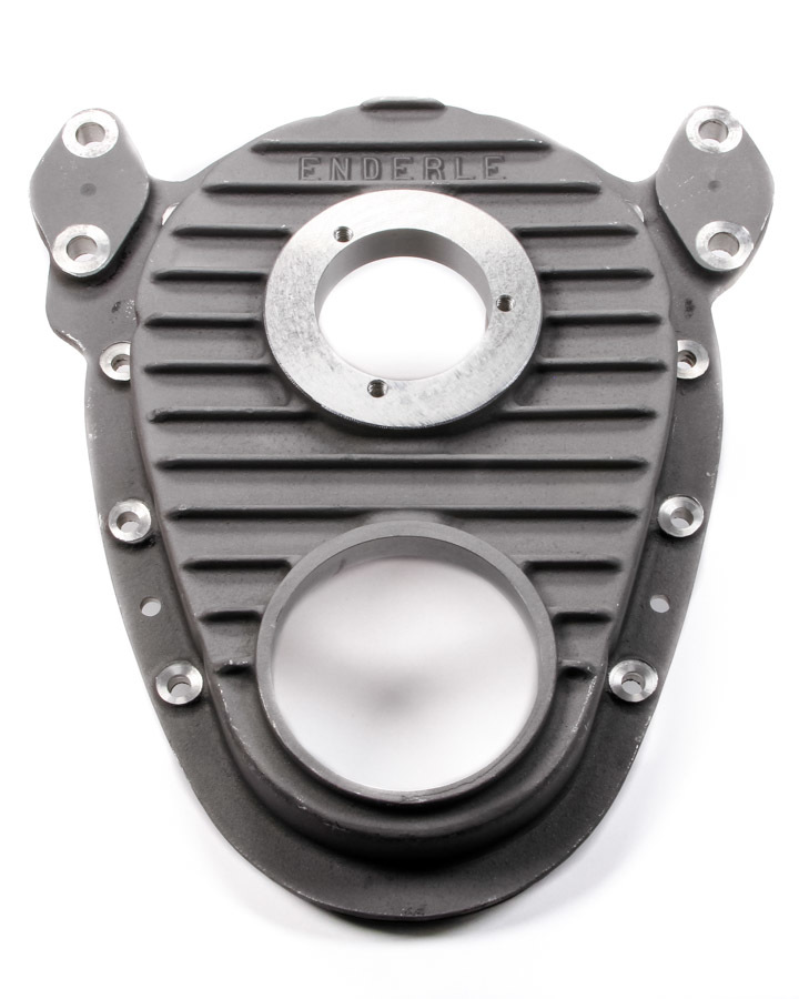 Enderle 5001 Timing Cover, 1 Piece, Camshaft Drive, Aluminum, Natural, Big Block Snout, Small Block Chevy, Each