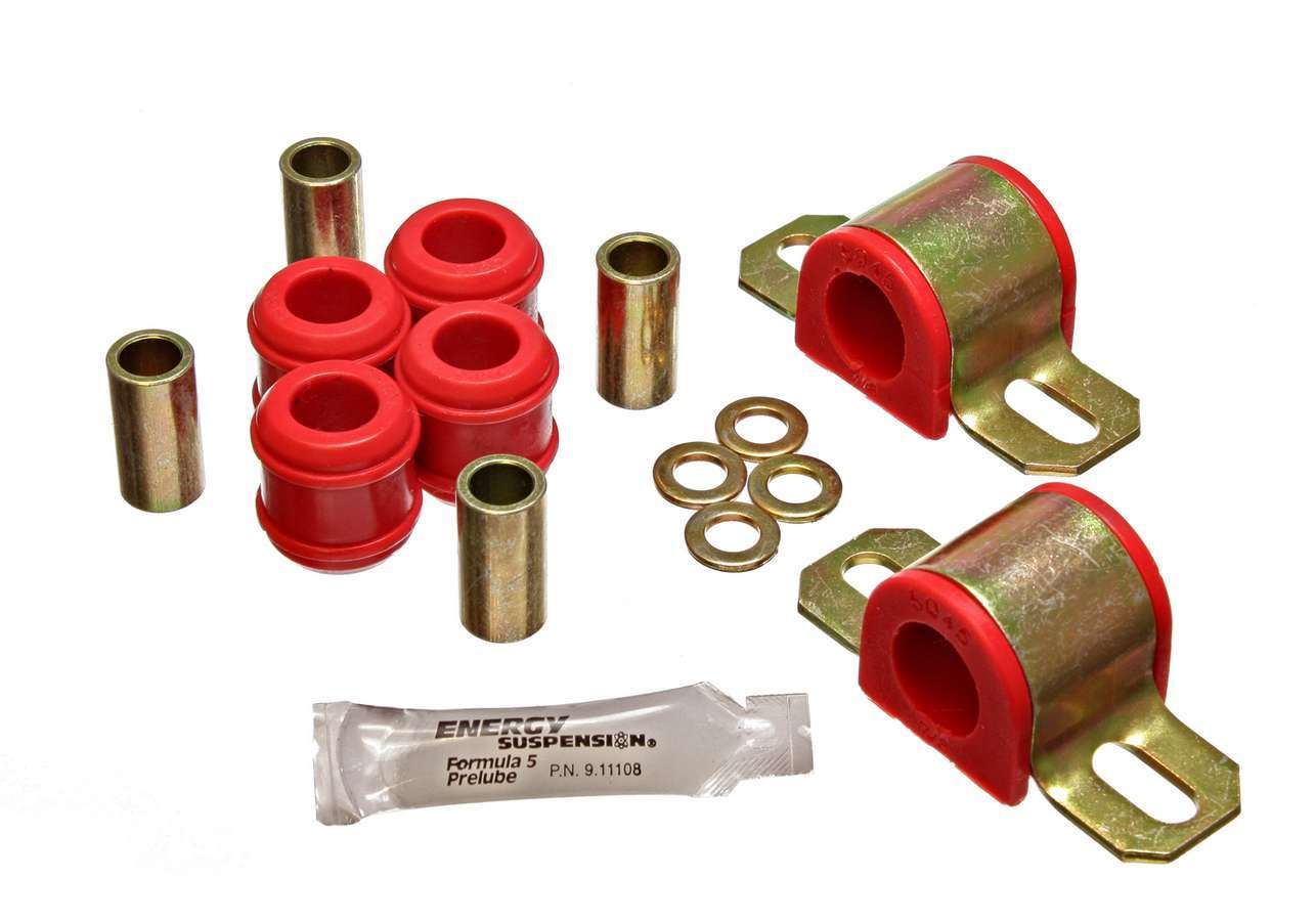 Energy Suspension 1-5101R Sway Bar Bushing, Hyper-Flex, Front, 7/8 in Bar, Polyurethane / Steel, Red / Cadmium, Suzuki Samurai 1986-93, Kit