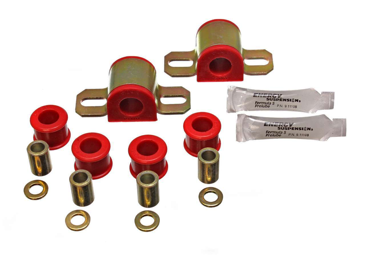 Energy Suspension 11-5102R Sway Bar Bushing, Hyper-Flex, Front, 19 mm Bar, Polyurethane / Steel, Red / Cadmium, Mazda Miata 1990-97, Kit