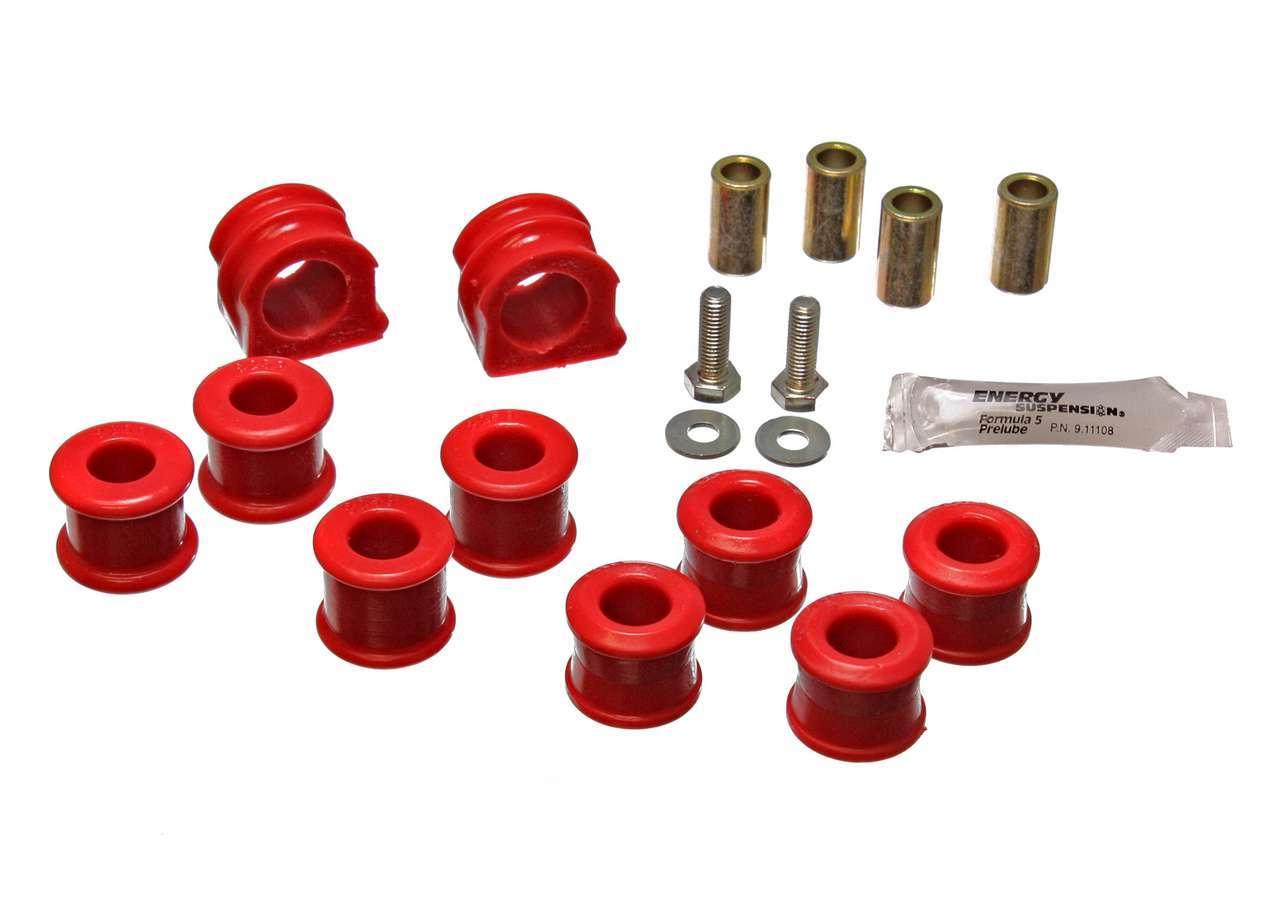 Energy Suspension 15-5106R Sway Bar Bushing, Hyper-Flex, Front, 23 mm Bar, Polyurethane / Steel, Red / Cadmium, Volkswagen Beetle / Golf / Jetta 1998-2006, Kit