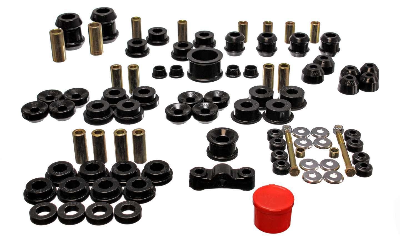 Energy Suspension 16-18105G Bushing Kit, Hyper-Flex System, Suspension Bushings, Boots / Links, Polyurethane, Black, Acura Integra 1994-2001, Kit