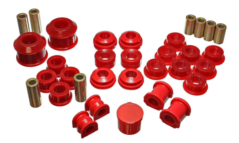 Energy Suspension 16-18111R Bushing Kit, Hyper-Flex System, Suspension Bushings, Boots / Links, Polyurethane, Red, Acura RSX 2002-03, Kit