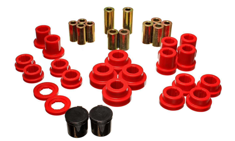 Energy Suspension 16-3121R Trailing Arm Bushing, Hyper-Flex, Rear, Polyurethane, Red, Honda S2000 2000-2008, Kit