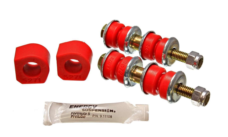 Energy Suspension 16-5101R Sway Bar Bushing, Hyper-Flex, Front, 16 mm Bar, End Links, Polyurethane / Steel, Red / Cadmium, Honda Civic 1984-87, Kit