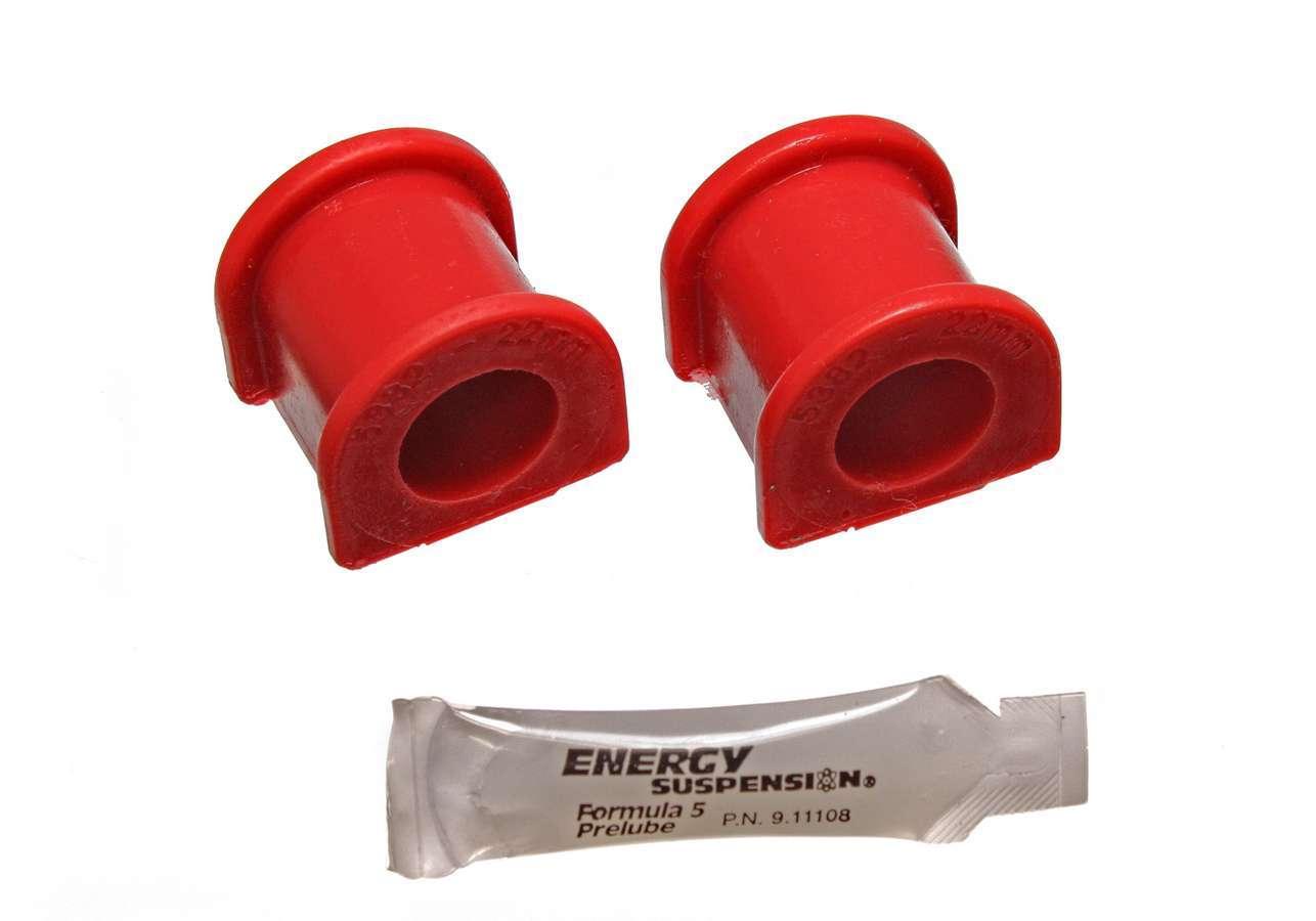 Energy Suspension 16-5121R Sway Bar Bushing, Hyper-Flex, Front, 22 mm Bar, Polyurethane, Red, Honda Civic 1996-98, Kit