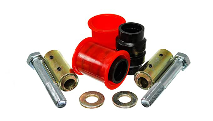 Energy Suspension 2-3111G Control Arm Bushing, Hyper-Flex, Front, Polyurethane / Steel, Red / Cadmium, Jeep Wrangler JL 2018-20, Kit