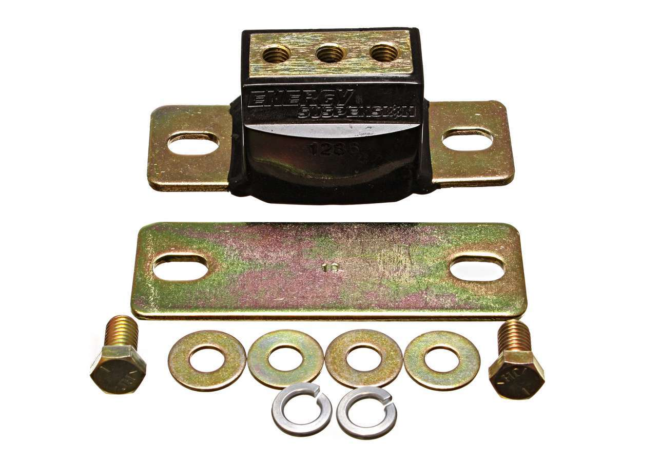 Energy Suspension 3-1142G Transmission Mount, Hyper-Flex, Polyurethane / Steel, Black / Cadmium, GM F-Body 1982-2002, Kit