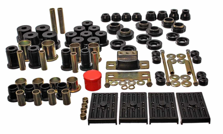 Energy Suspension 3-18118G Bushing Kit, Hyper-Flex System, Body Mount / Suspension Bushings, Boots / Links, Polyurethane, Black, GM F-Body 1967-69, Kit