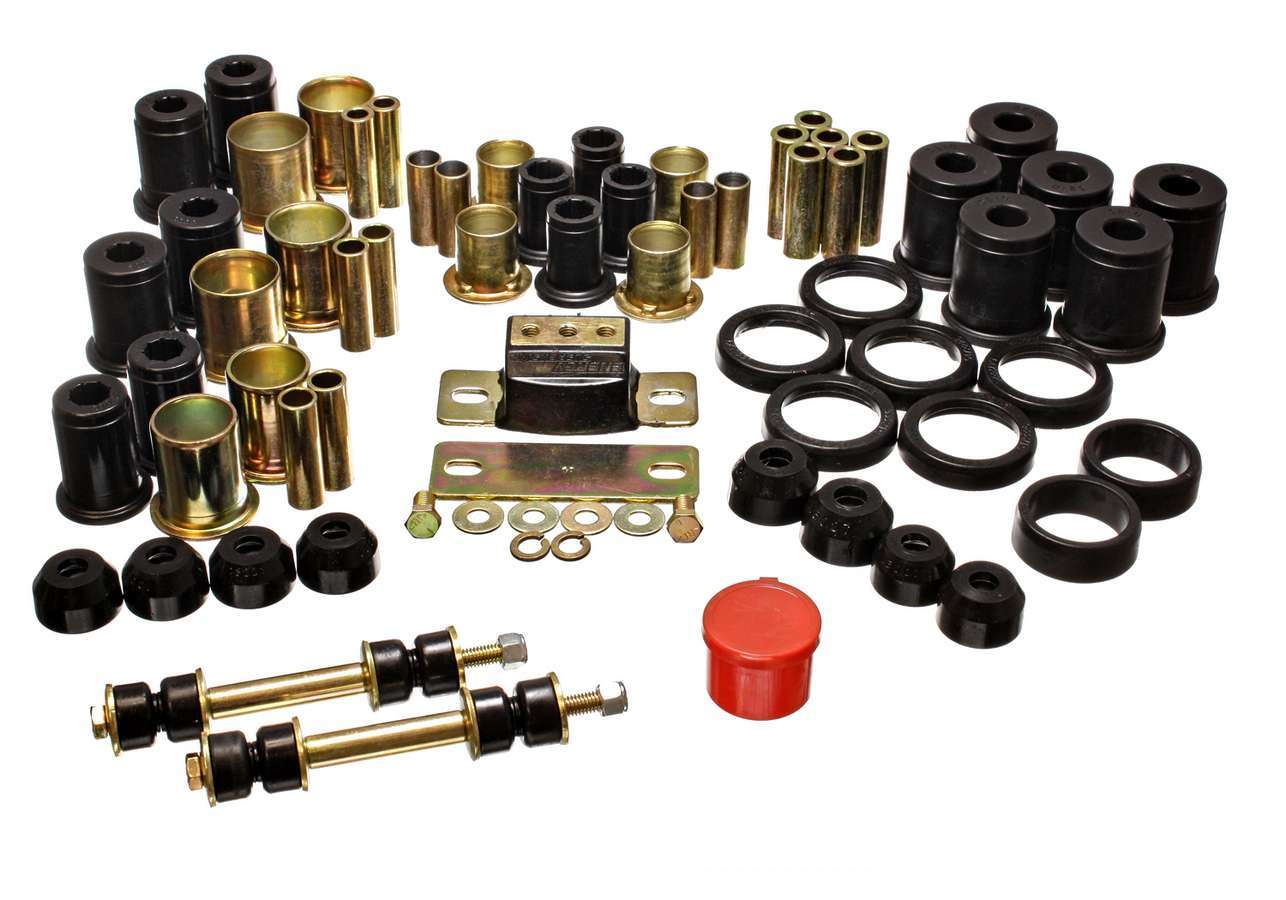 Energy Suspension 3-18120G Bushing Kit, Hyper-Flex System, Suspension Bushings, Boots / Isolators / Links, Polyurethane, Black, GM B-Body 1980-90, Kit