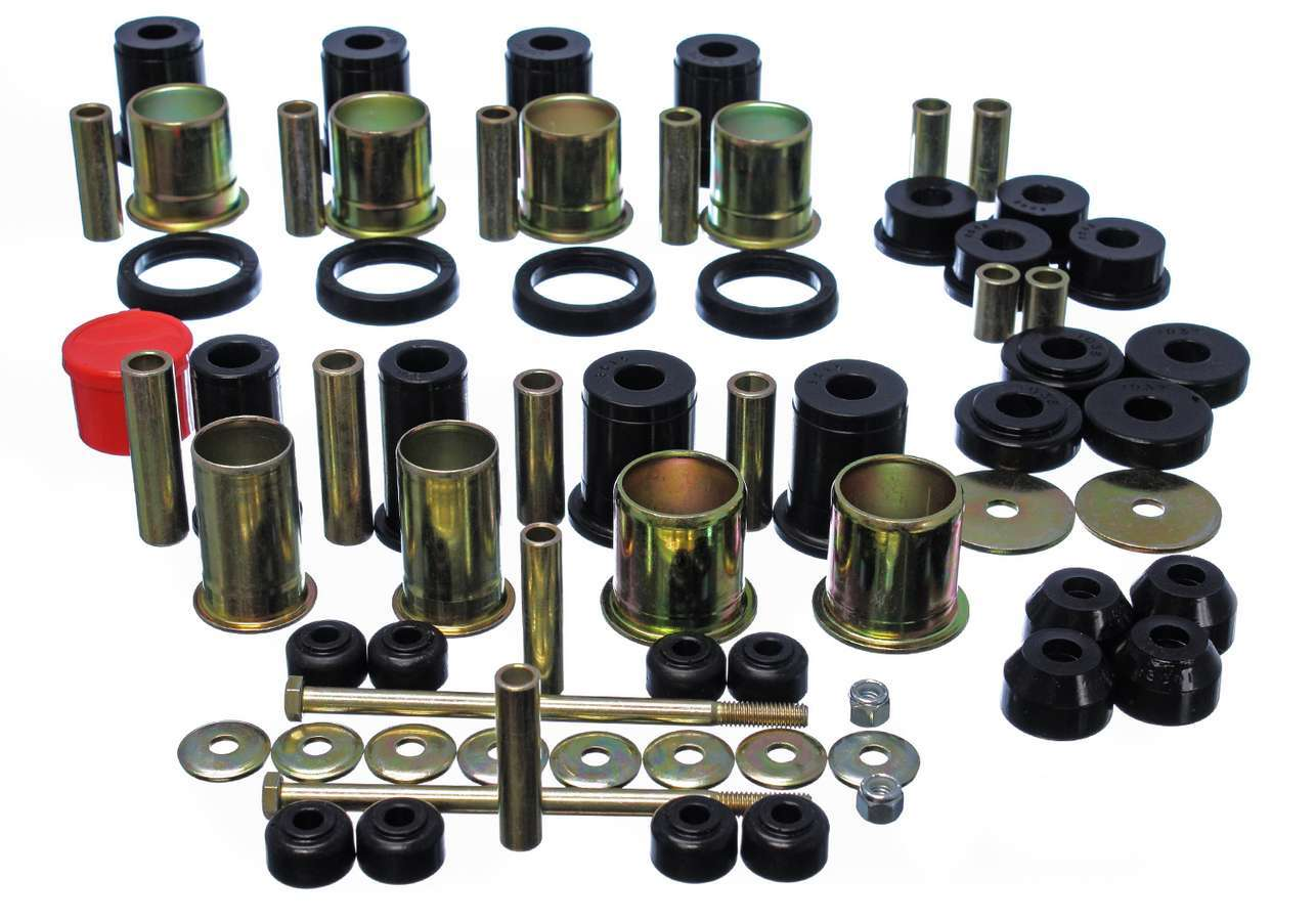 Energy Suspension 3-18131G Bushing Kit, Hyper-Flex System, Suspension Bushings, Boots / Links, Polyurethane, Black, GM F-Body 1982-92, Kit