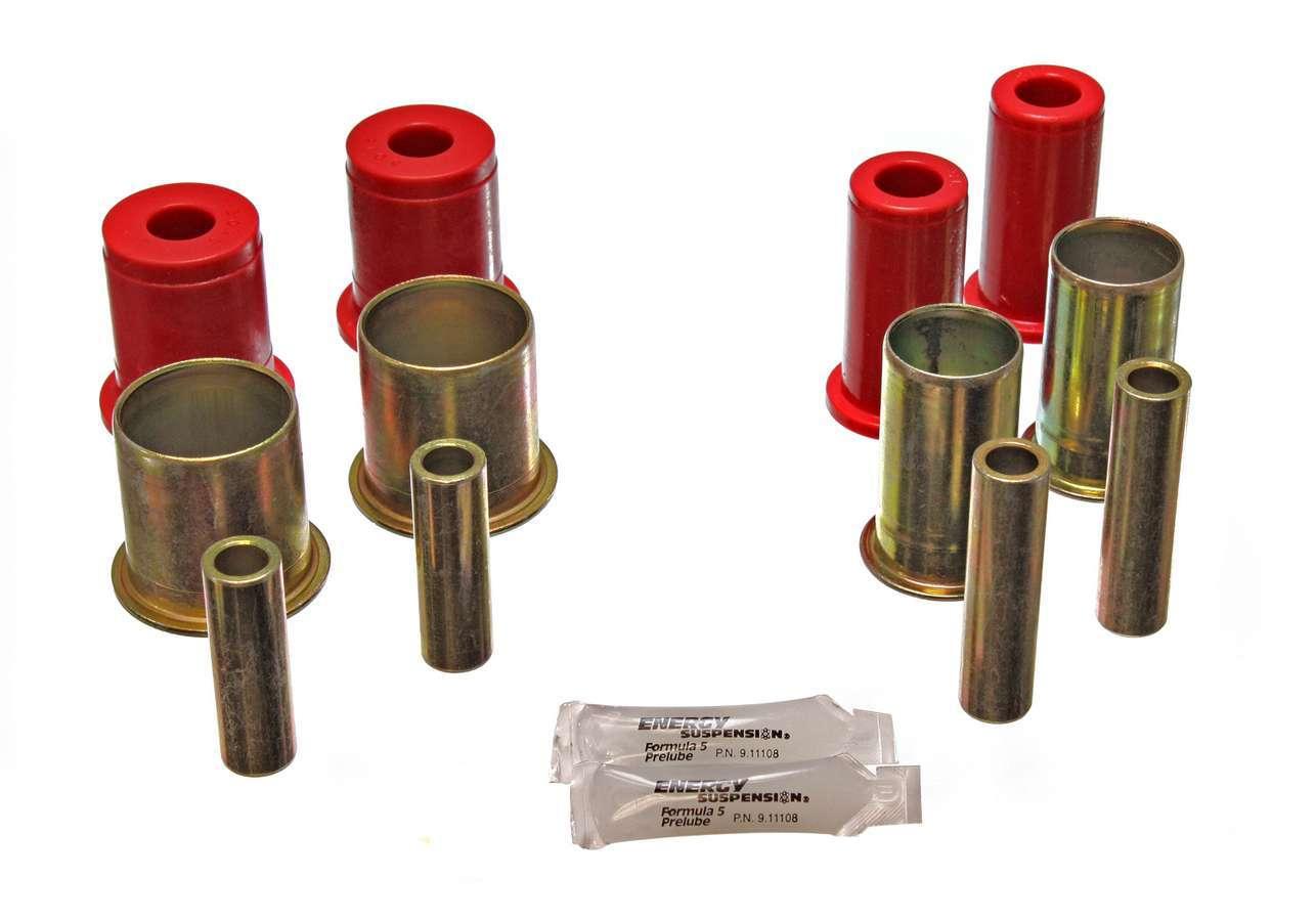 Energy Suspension 3-3157R Control Arm Bushing, Hyper-Flex, Front, Lower / Upper, Polyurethane, Red, GM F-Body 1982-92, Kit