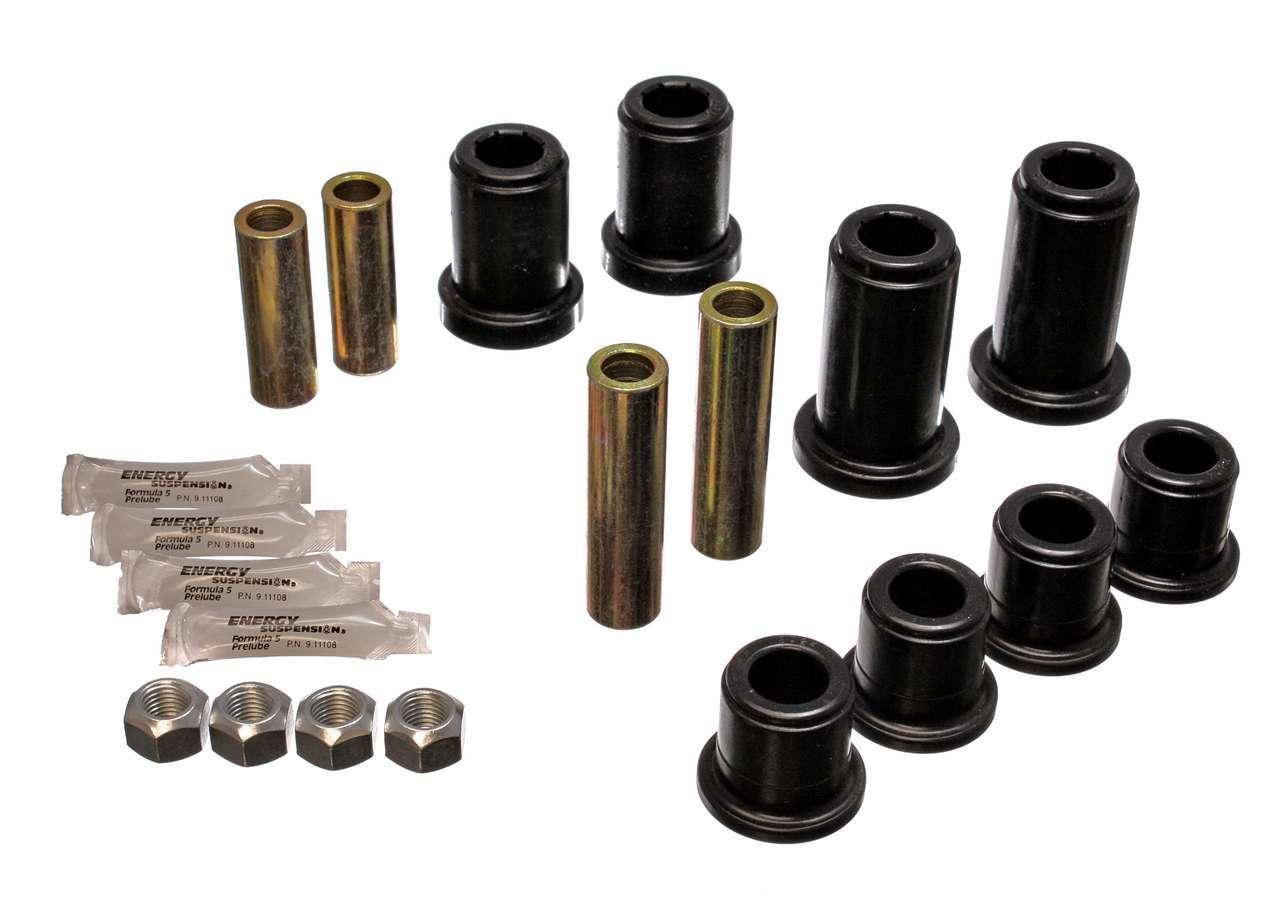 Energy Suspension 3-3185G Control Arm Bushing, Hyper-Flex, Front, Lower / Upper, Polyurethane, Black, GM Fullsize Truck 2001-06, Kit