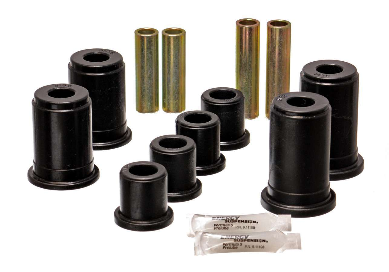Energy Suspension 3-3186G Control Arm Bushing, Hyper-Flex, Front, Lower / Upper, Polyurethane, Black, GM Fullsize Truck 1999-2006, Kit