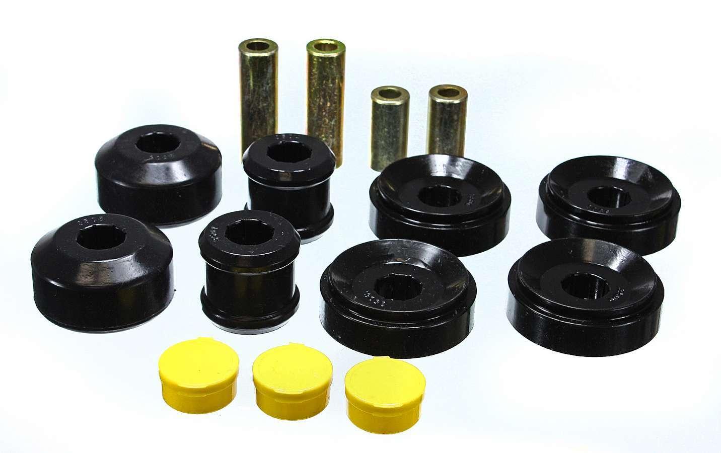 Energy Suspension 3-3195G Control Arm Bushing, Hyper-Flex, Front, Lower / Upper, Polyurethane, Black, Chevy Camaro 2010-12, Kit