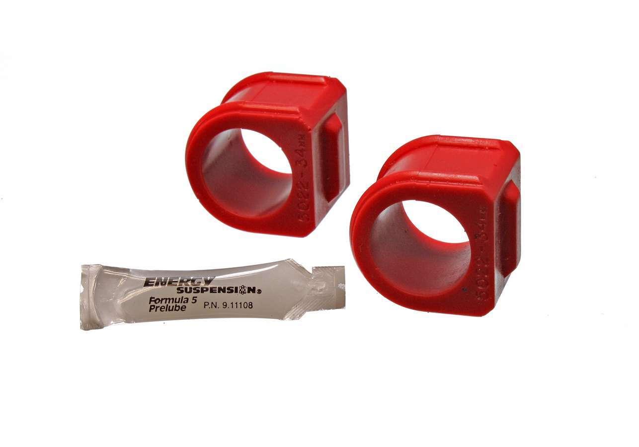 Energy Suspension 3-5130R Sway Bar Bushing, Hyper-Flex, Front, 32 mm Bar, Polyurethane, Red, GM F-Body 1982-92, Pair