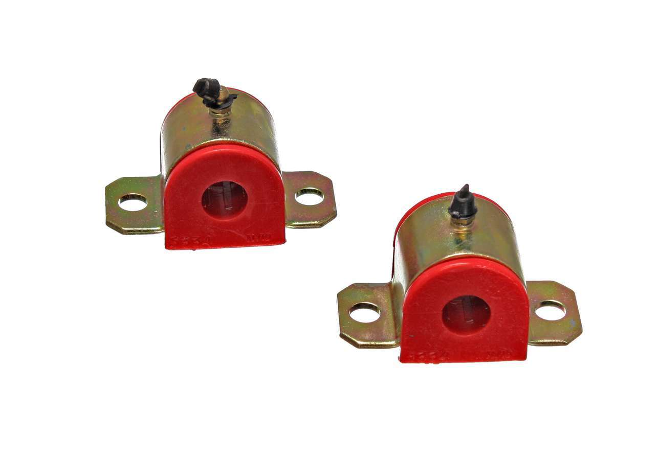 Energy Suspension 3-5202R Sway Bar Bushing, Hyper-Flex, Front, Greaseable, 11/16 in Bar, Polyurethane / Steel, Red / Cadmium, GM F-Body / X-Body 1967-74, Kit