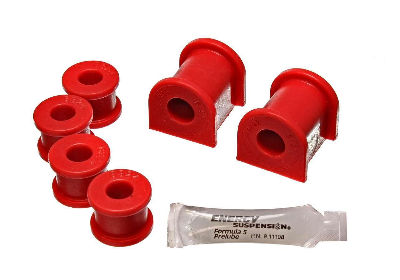 Energy Suspension 3-5211R Sway Bar Bushing, Hyper-Flex, Rear, 20 mm Bar, Polyurethane, Red, Pontiac GTO 2004-06, Kit