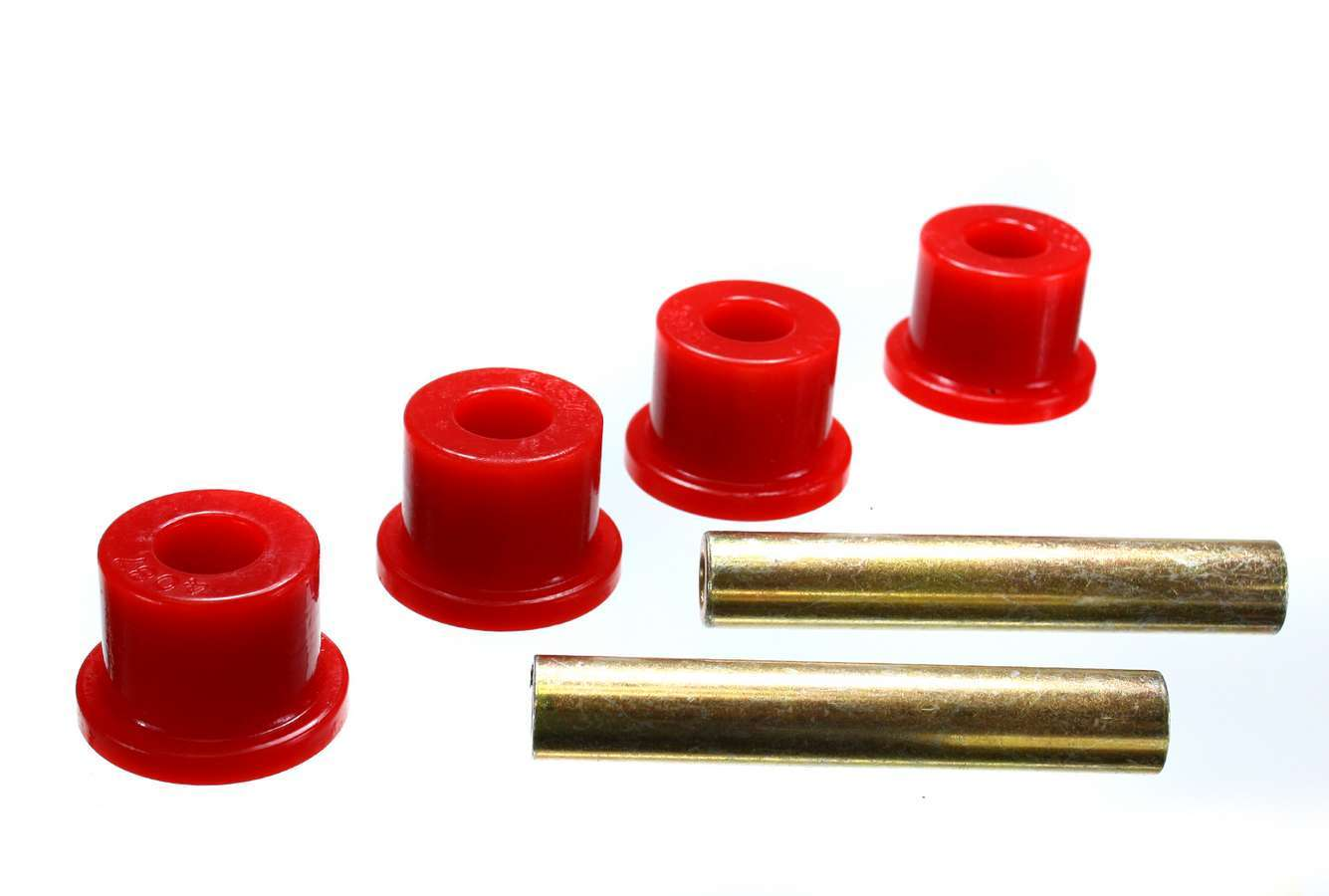 Energy Suspension 4-1102R Crossmember Bushing, Hyper-Flex, Transmission, Polyurethane / Steel, Red / Cadmium, Ford Mustang 1979-93, Kit