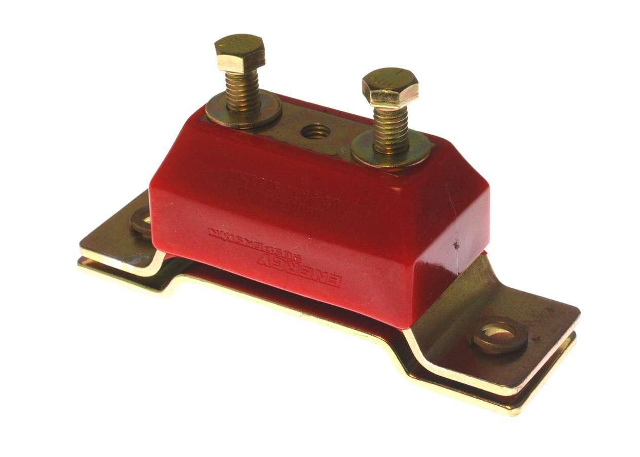 Energy Suspension 4-1104R Transmission Mount, Hyper-Flex, Polyurethane / Steel, Red / Cadmium, Various Ford 1979-95, Kit