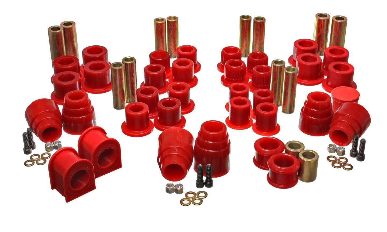 Energy Suspension 4-18120R Bushing Kit, Hyper-Flex, Suspension Bushings, Master Set, Polyurethane / Steel, Red / Cadmium, Ford Fullsize SUV 2000-04, Kit