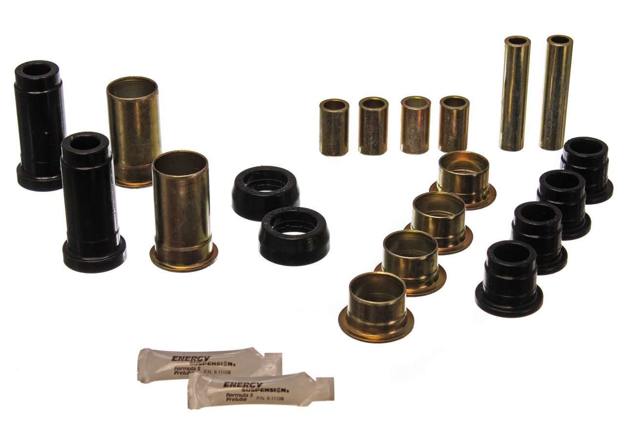 Energy Suspension 4-3130G Control Arm Bushing, Hyper-Flex, Front, Lower / Upper, Polyurethane, Black, Mustang II / Pinto 1974-80, Kit