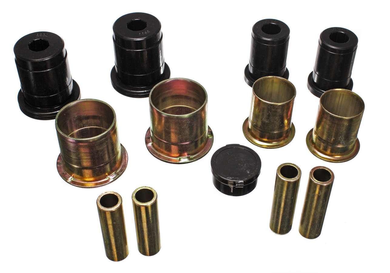 Energy Suspension 4-3144G Control Arm Bushing, Hyper-Flex, Front, Lower / Upper, Polyurethane, Black, Ford Mustang 1994-2004, Kit