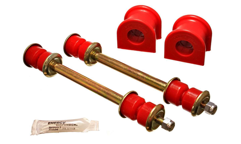 Energy Suspension 4-5156R Sway Bar Bushing, Hyper-Flex, Front, End Links, 27 mm Bar, Polyurethane / Steel, Red / Cadmium, Ford Compact Truck / Mazda B-Series 1998-2010, Kit