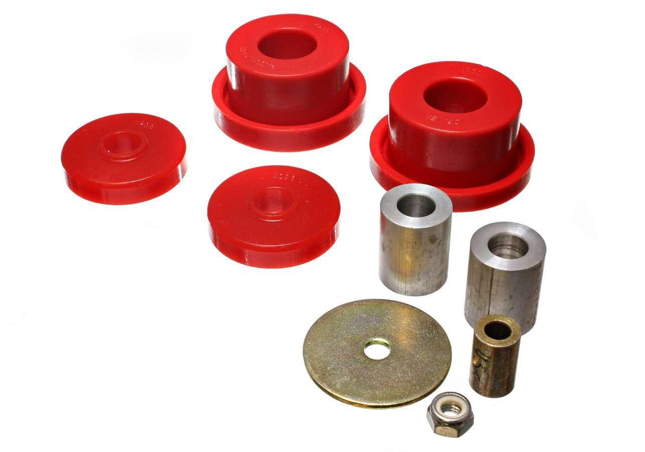 Energy Suspension 5-1115R Differential Housing Mount Bushing, Hyper-Flex, Polyurethane / Steel, Red / Cadmium, Mopar LC-Body / LX-Body 2005-10, Kit
