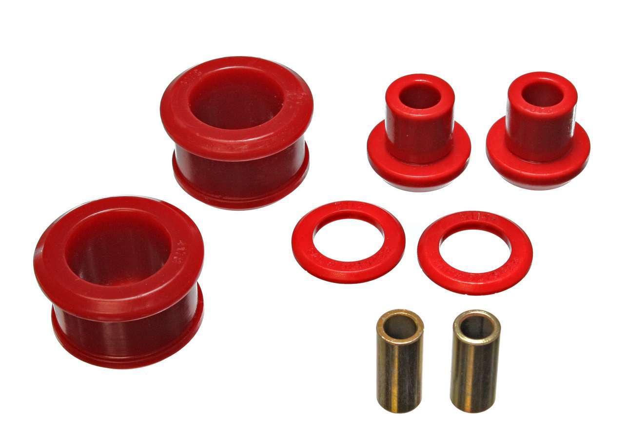 Energy Suspension 7-1108R Differential Housing Mount Bushing, Hyper-Flex, Polyurethane / Steel, Red / Cadmium, Nissan Z 1990-96, Kit
