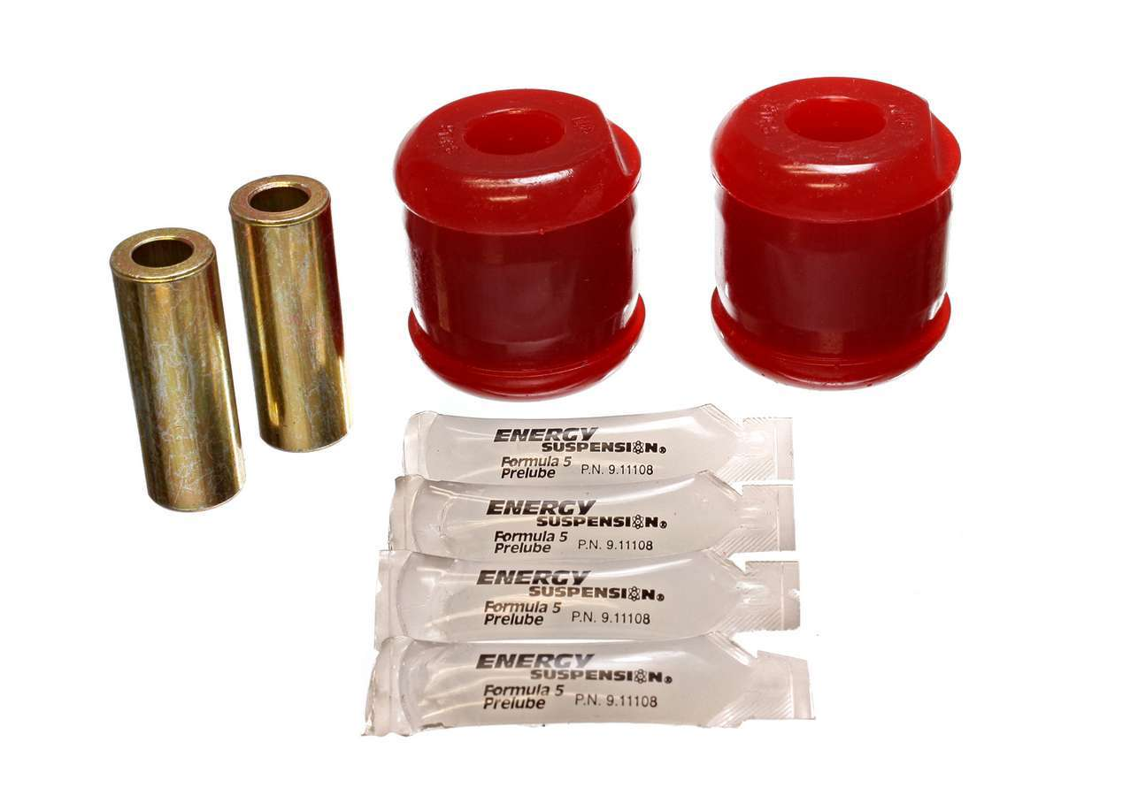 Energy Suspension 7-3120R Trailing Arm Bushing, Hyper-Flex, Rear, Polyurethane / Steel, Red / Cadmium, Nissan Sentra 1995-99 Kit