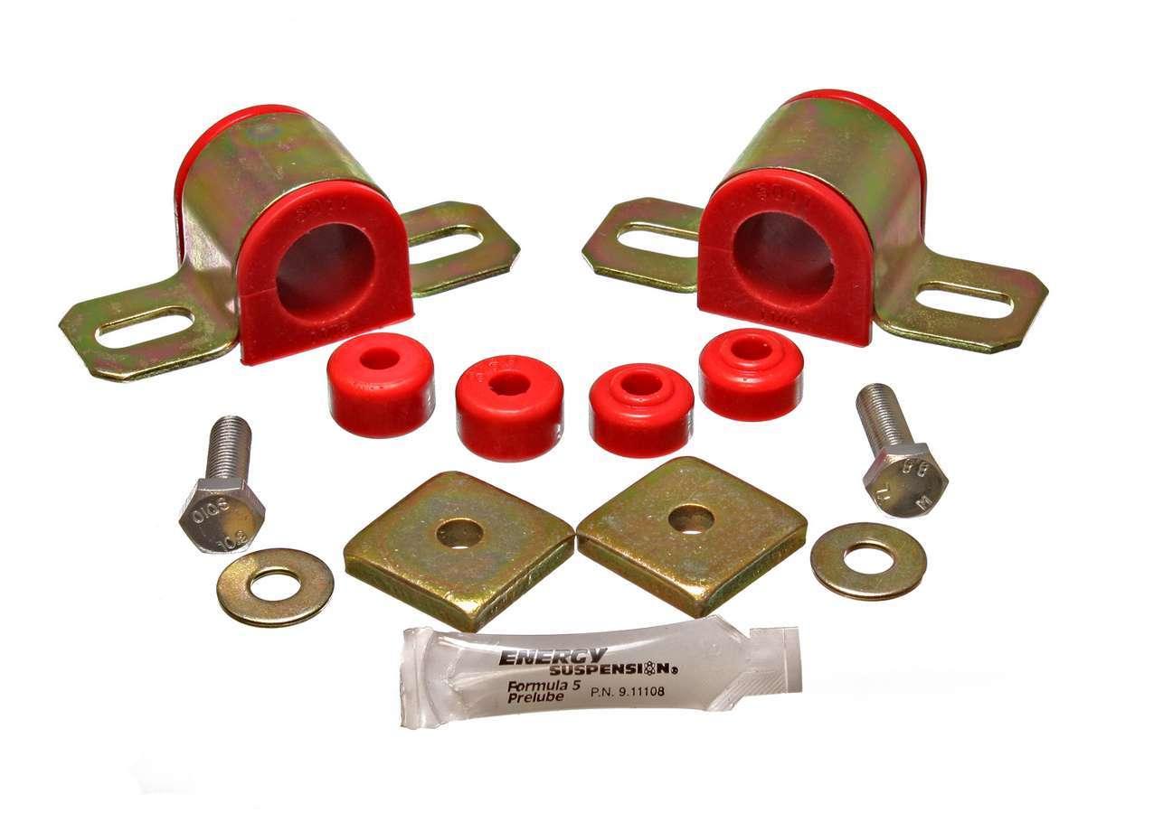 Energy Suspension 7-5114R Sway Bar Bushing, Hyper-Flex, Rear, 27 mm Bar, Polyurethane / Steel, Red / Cadmium, Nissan SX 1995-1998, Kit
