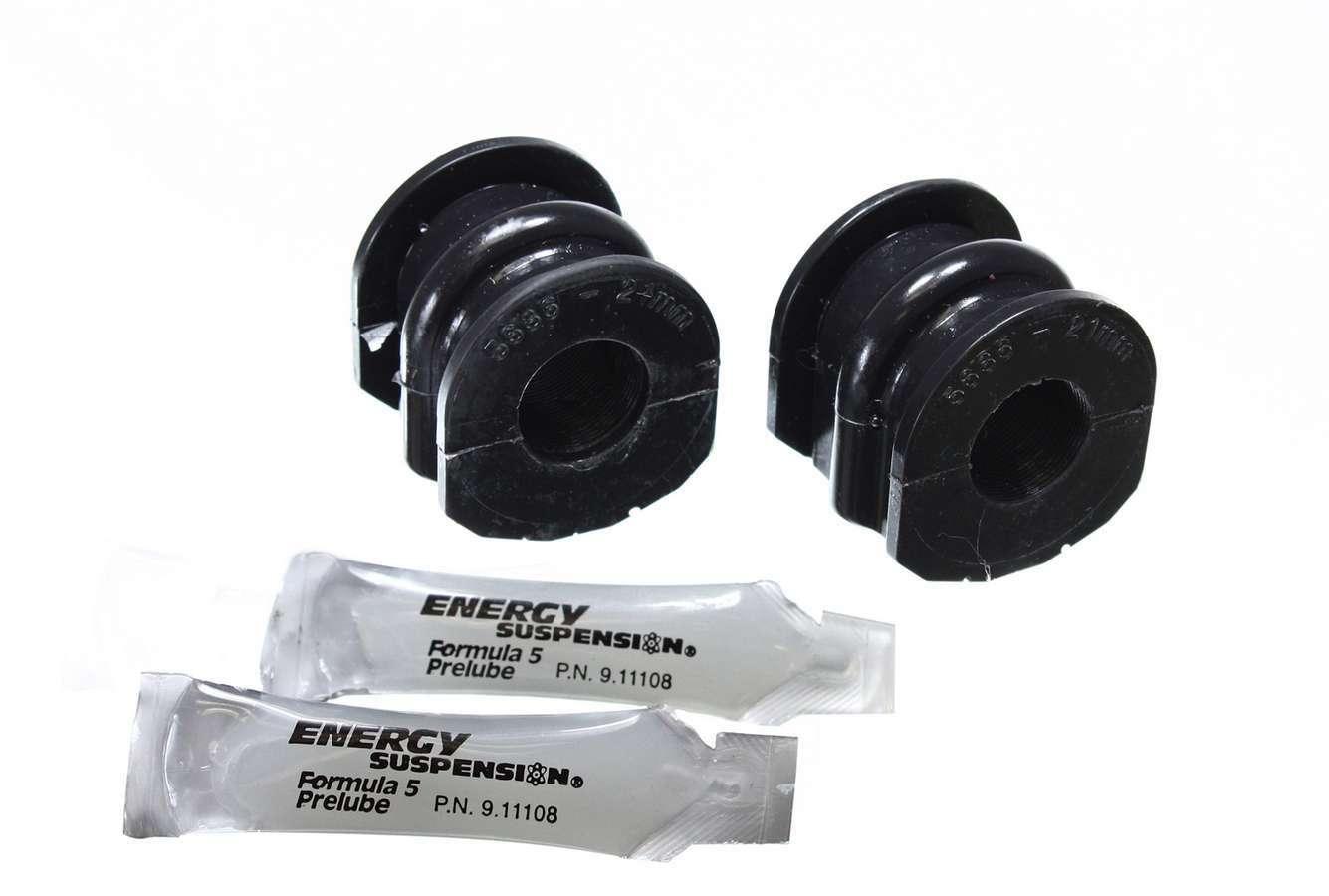 Energy Suspension 7-5127G Sway Bar Bushing, Hyper-Flex, Rear, 21 mm Bar, Polyurethane, Black, Nissan Z 2003-09, Pair