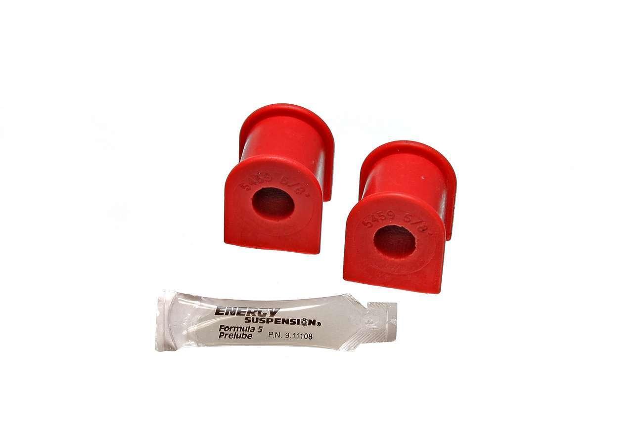 Energy Suspension 8-5120R Sway Bar Bushing, Hyper-Flex, Rear, 16 mm Bar, Polyurethane, Red, Toyota Avalon / Corolla / Solara 1995-2203, Pair