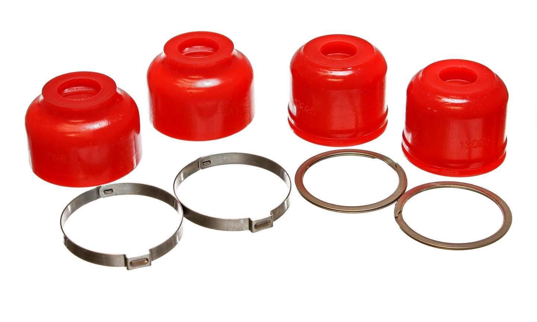 Energy Suspension 9-13136R Ball Joint Dust Boot, Hyper-Flex, Lower / Upper, Polyurethane, Red, Hummer H1 1994-2006, Kit