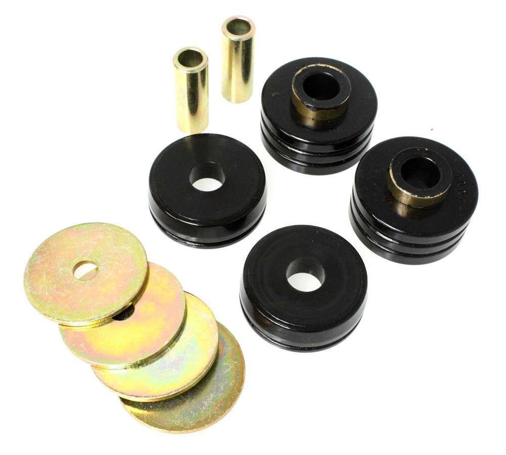 Energy Suspension 9-4102G Isolator Bushing, Hyper-Flex, 1/2 in ID, 2-1/2 in OD, Fits 1-1/4 in Hole, Polyurethane / Steel, Black / Cadmium, Pair