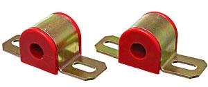 Energy Suspension 9-5108R Sway Bar Bushing, Hyper-Flex, Non-Greasable, 7/8 in Bar, Bracket, Polyurethane / Steel, Red / Cadmium, Universal, Kit