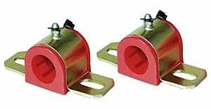 Energy Suspension 9-5168R Sway Bar Bushing, Hyper-Flex, Greasable, 1-3/8 in Bar, Bracket, Polyurethane / Steel, Red / Cadmium, Universal, Kit
