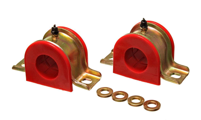 Energy Suspension 9-5186R Sway Bar Bushing, Hyper-Flex, Greaseable, 1-5/16 in Bar, Bracket, Polyurethane / Steel, Red / Cadmium, Universal, Pair