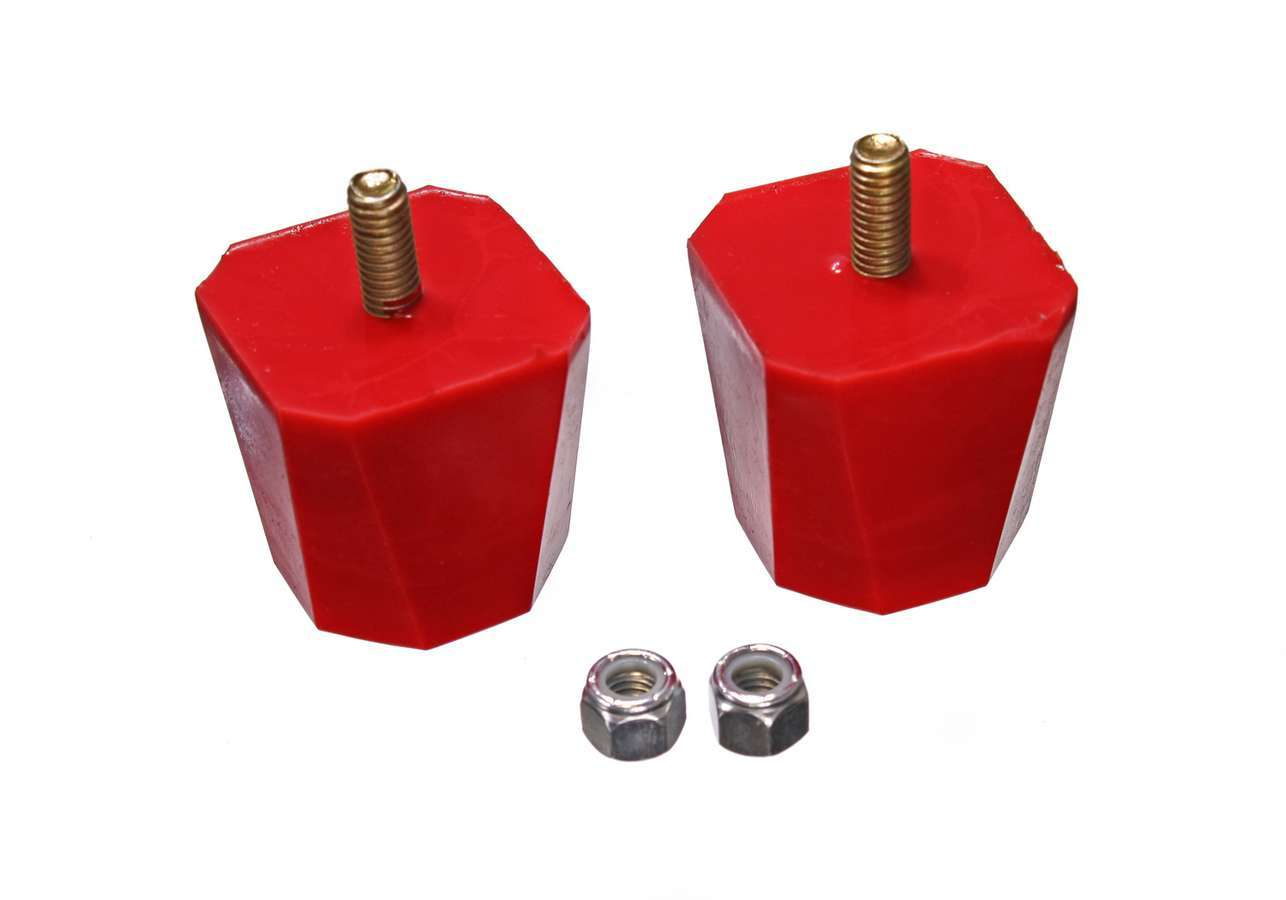 Energy Suspension 9-9136R Bump Stop, Hyper-Flex, 2.000 in Tall, 2 x 2 in Wide, Polyurethane, Red, Universal, Pair