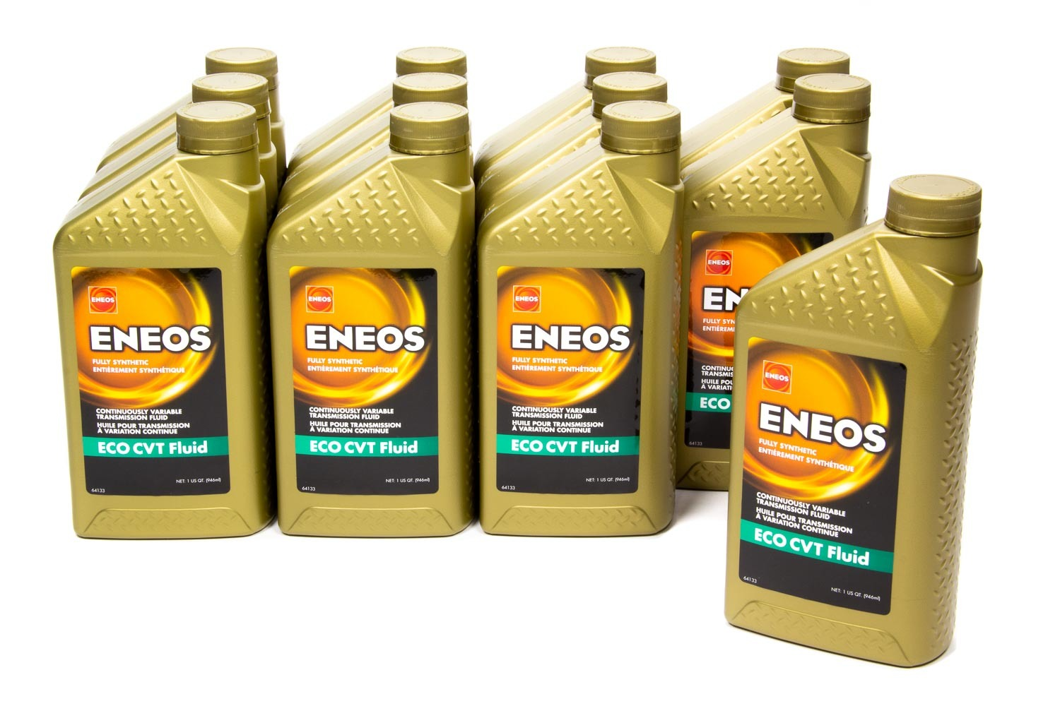 Eneos 3026-301 Transmission Fluid, CVT, Synthetic, 1 qt Bottle, Continuously Variable Transmissions, Set of 12