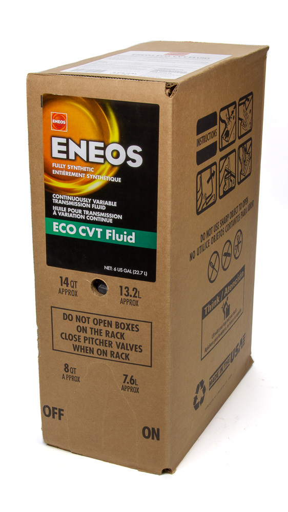 Eneos 3026-400 Transmission Fluid, CVT, Synthetic, 6 gal Box, Continuously Variable Transmissions, Each