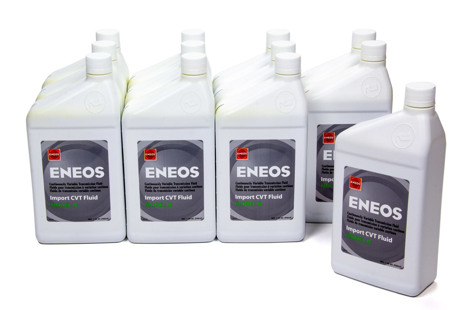 Eneos 3057-301 Transmission Fluid, Import CVT, Model N, Synthetic, 1 qt Bottle, Nissan Continuously Variable Transmissions, Set of 12