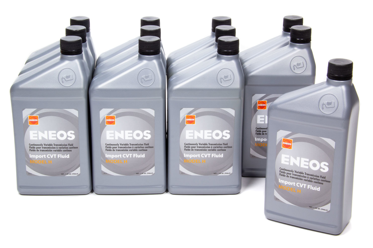 Eneos 3072-301 Transmission Fluid, Import CVT, Model H, Synthetic, 1 qt Bottle, Honda Continuously Variable Transmissions, Set of 12