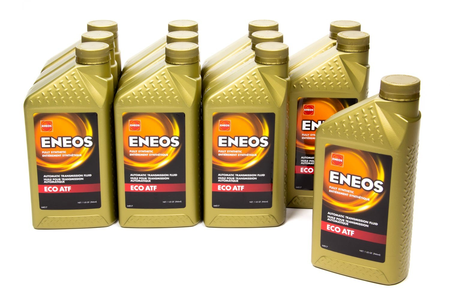 Eneos 3103-301 Transmission Fluid, ECO ATF, Synthetic, 1 qt Bottle, Set of 12